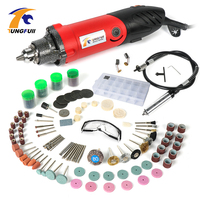 Tungfull Electric Drill Mini Drills Rotary Grinder Tool Drilling Machine Flexible Flex Shaft Dremel Accessories For