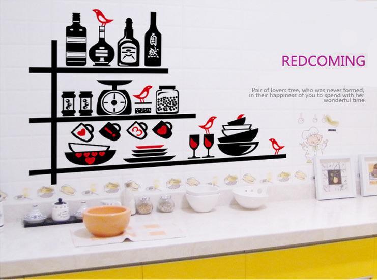 Decoracion para paredes de cocina lo ms destacable es el estampado del vinilo de luc at diseos - Pegatinas para cocinas ...