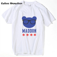 Liefde Voor Maddon! Chicago Cubs T-Shirt Mannen 2017 Fashion World Series Champions t-shirt Korte Mouw Brief Top Tees Kleding 3XL