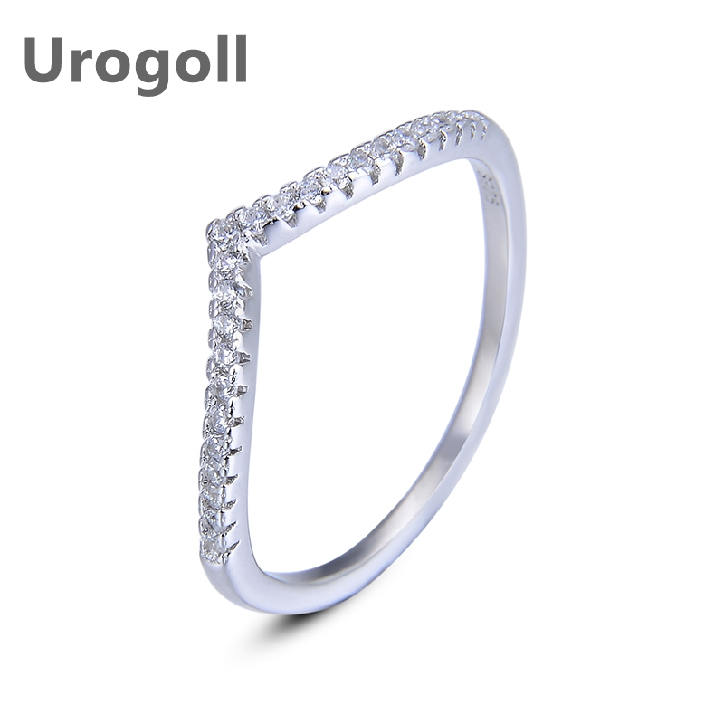 Fashion Women Ring Pure 925 Sterling Silver Jewelry Ring Wave Cubic Zirconia Jewelry Style Rings For Girl Dress Up