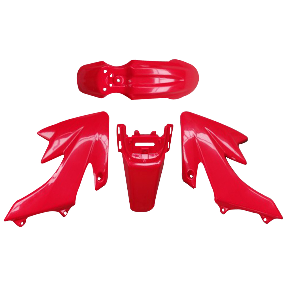Vodool Plastic Red And White Fairing Body Cover For Honda Crf Xr 50 50cc Pit Bike 125cc Ssr Pro Dirt High Quality Car Styling