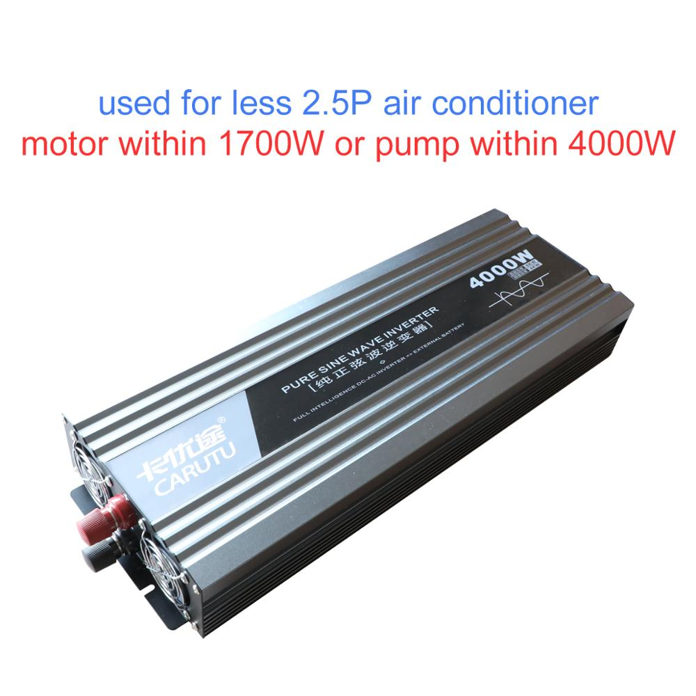 high peak power 8000W sustain <font><b>4000W</b></font> <font><b>inverter</b></font> pure sine <font><b>inverter</b></font> <font><b>12V</b></font> to 220V for less 2.5P air conditioner less 1700W motor/pump image