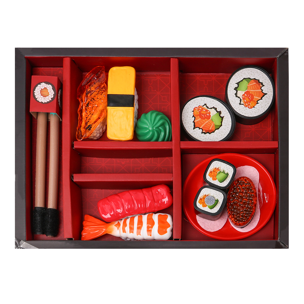 New 15Pcs Simulation Sushi Play Set Pretend Play Toys Educational Kid Kitchen Set Fun Miniature Toys for Children салатники fun kitchen