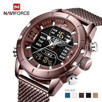 NAVIFORCE mens della vigilanza superiore di marca di lusso cronografo LED di sport militare impermeabile orologio da polso montre homme relogio masculino orologio