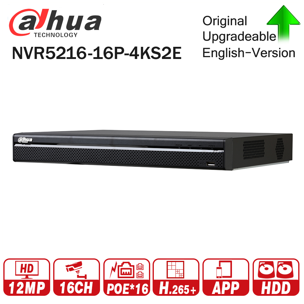 Dahua Pro 16CH NVR NVR5216-16P-4KS2E with 16CH PoE Port support Two way Talk e-POE 800M MAX Network Video Recorder for System dahua network video recoder nvr4208 8p hds2 nvr4216 16p hds2 8 16ch nvr support onvif poe nvr recorder for poe camera