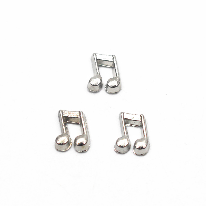 Hot selling musical notation Zinc Alloy floating charms for living glass memory floating lockets woman jewelry 20pcslot