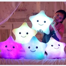 PUNIDAMAN Luminous pillow Christmas Toys Led Light Pillow Plush Pillows Colorful Stars kids Toys Children Birthday Gift