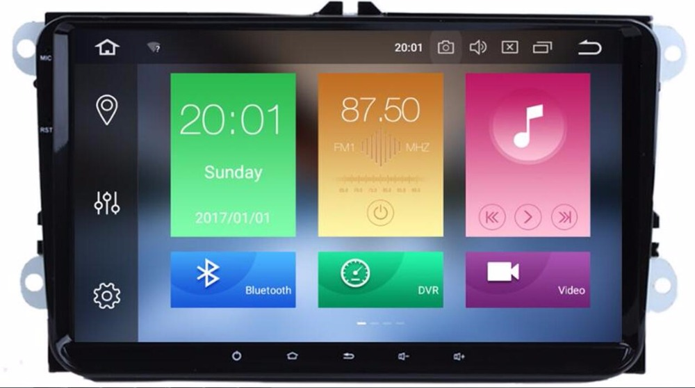 IPS 4G LTE 2 Din 9 inch Android 9.0 /9 car dvd GPS for <font><b>VW</b></font> Polo <font><b>Jetta</b></font> Tiguan passat b6 fabia mirrorlink wifi Radio BT No DVD image