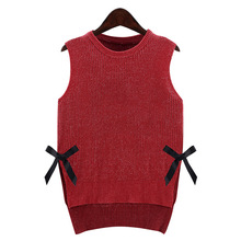2016 new 5XL Europe and America in autumn and winter plus size women's clothing and fertilizer increase sleeveless sweater