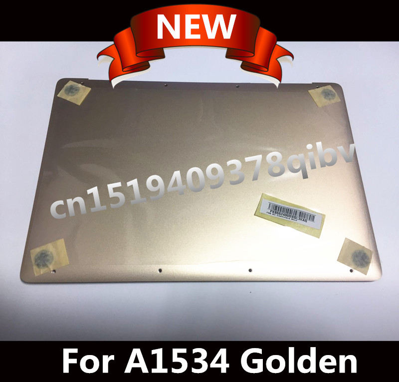 Free Shipping 12 Laptop For Macbook A1534 Golden Bottom Case Back Cover 2015 2016 Years Brand New original a1706 a1708 lcd back cover for macbook pro13 2016 a1706 a1708 laptop replacement