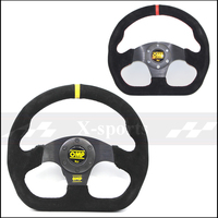 OMP car Sport steering wheel racing type High quality universal 13inches 320MM Aluminum+suede Yellow, red