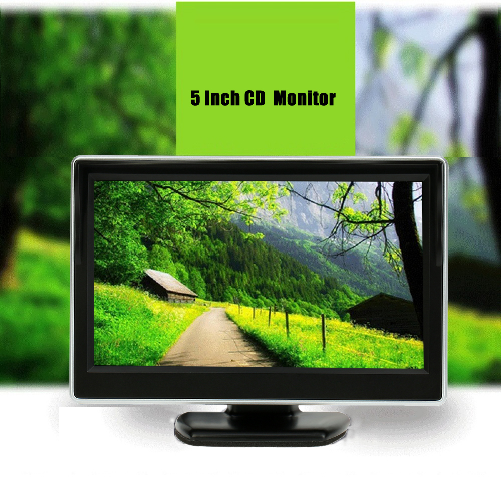 Top Auto-parts Store 5.0 Inch Car Monitor TFT LCD 800*480 Color 16:9 Screen 2 Way Video Input For Rear View Backup Car Rear View Camera VCD DVD GPS