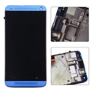 Image 5 - Pantalla LCD para HTC One M7 801e, pantalla táctil de 4,7 pulgadas, montaje de digitalizador con Marco, 1 año de garantía
