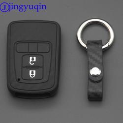 Jingyuqin 2/3/4 кнопки дистанционного углерода силиконовая ключа автомобиля чехол для Honda 2016 2017 CRV ПИЛОТ accord Civic Fit освобождается
