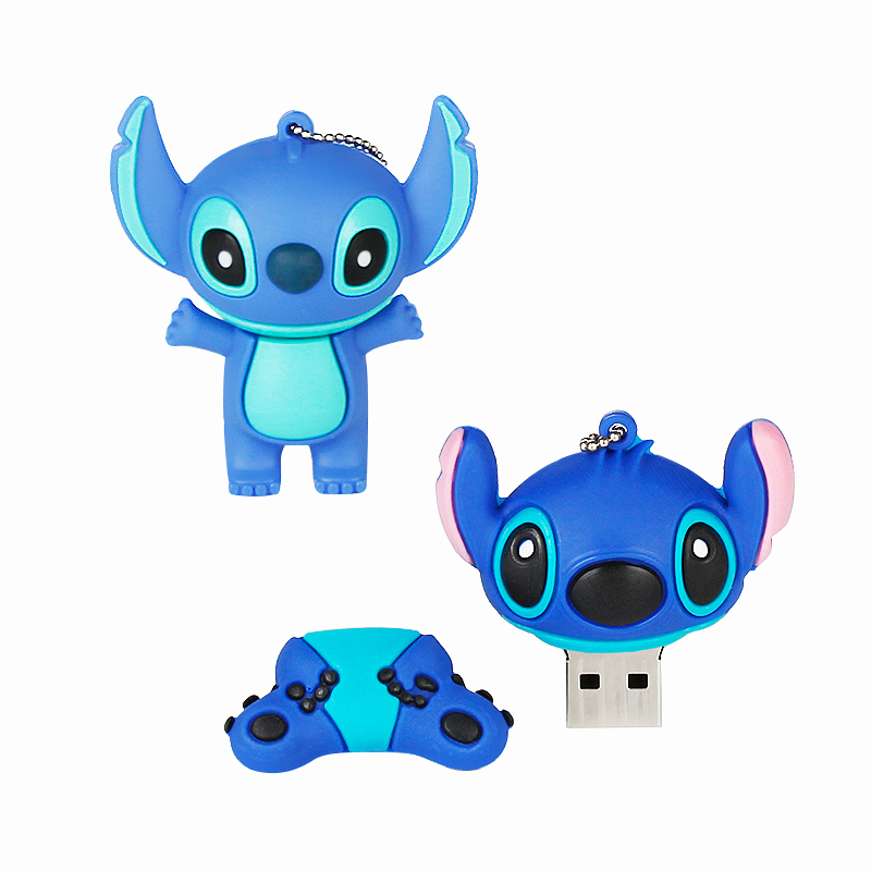 Image 3 - 2019 Cute Stitch 32GB Usb Flash Drive Cartoon Pen Drive 64gb 128gb Pendrive 16gb 8gb 4gb Usb 2.0 Flash Memory Stick Lovely Gift-in USB Flash Drives from Computer & Office