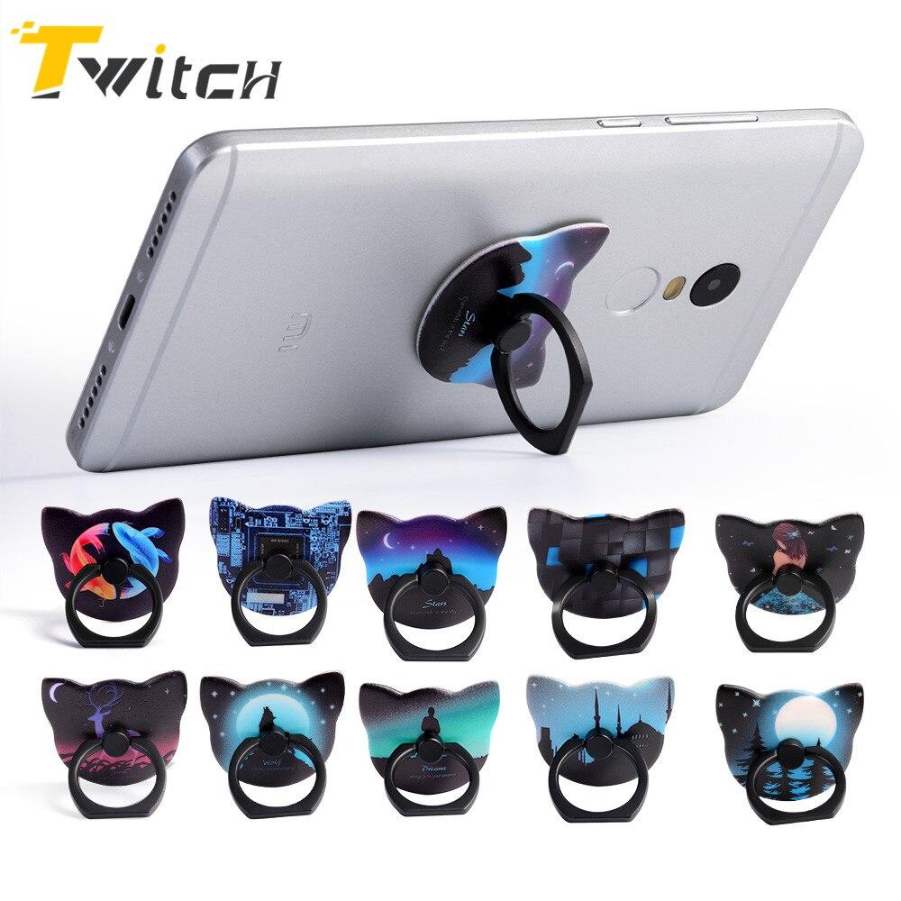 Luxury 360 Degree Metal Finger Ring Holder luminous Smartphone Mobile Phone Finger Stand Holder For iPhone 7 6 Samsung Tablet