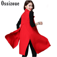 Spring High Quality Knitted Female Vest Elegant Long Sleeveless Sweater Cardigan Vests for Women Knit Long Vest Female Waistcoat