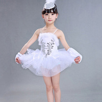White Swan Lake Dance Dress Classical Professional Ballet Tutu Dancewear Girls Stage Performance Costumes Ballet Dress