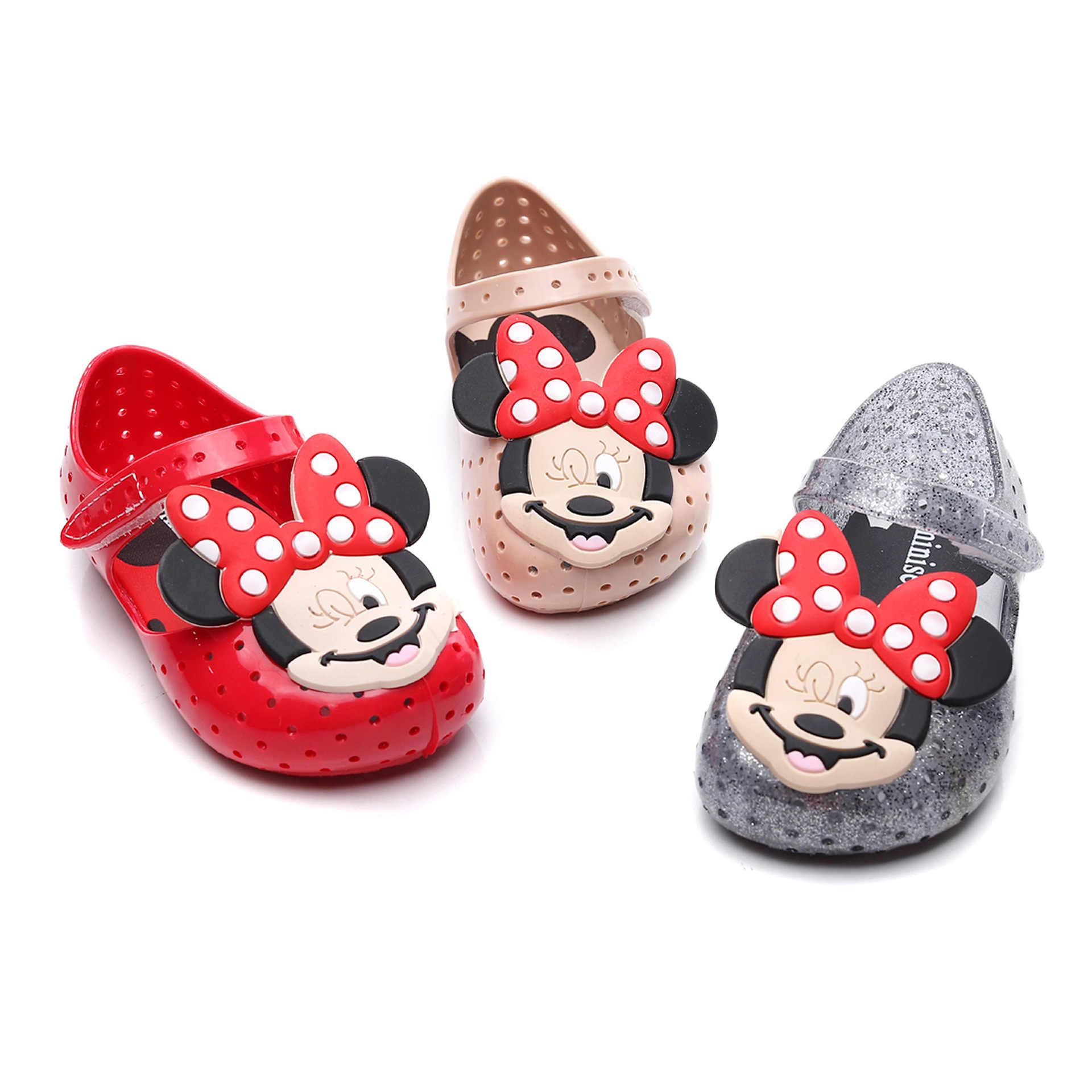Baotou/Новинка 2020, Студенческая обувь, милые детские сандалии с прорезями, нескользящая модная пляжная обувь из ПВХ