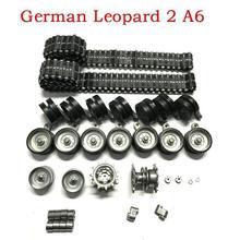 Henglong HL3889-1, 1/16 1:16, немецкий леопард, 2, A6, rc Танк, обновленные части, стальная коробка передач с мотором/металлическая дорожка/комплект ступиц с металлическими колесами