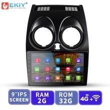 EKIY 9′ ips Автомобильный мультимедийный видео медиаплеер gps навигация Android No 2 Din Авто Радио для Nissan Qashqai 2006-2013