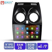 EKIY 9' IPS Car Multimedia Video Player Media GPS Navigation Android No 2 Din Auto Radio For Nissan Qashqai 2006 2013