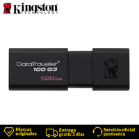 Kingston Technology DataTraveler DT100G3 128GB USB 3.0 (3.1 Gen 1) USB Type A connector 100 MB/s Slide, Black 128 GB Flash Disk