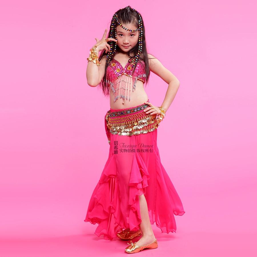 Costumes For Dance Belly 3piece(Bra+Dress+Waist Chain