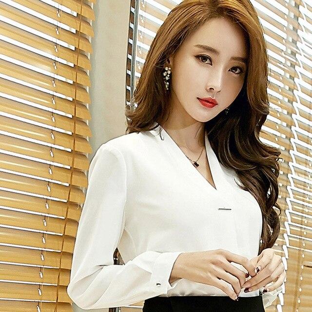 30a2b4d12 Pin Decor Lady Brown gasa blusas tamaño S-XL mujeres elegante manga larga  ropa niñas