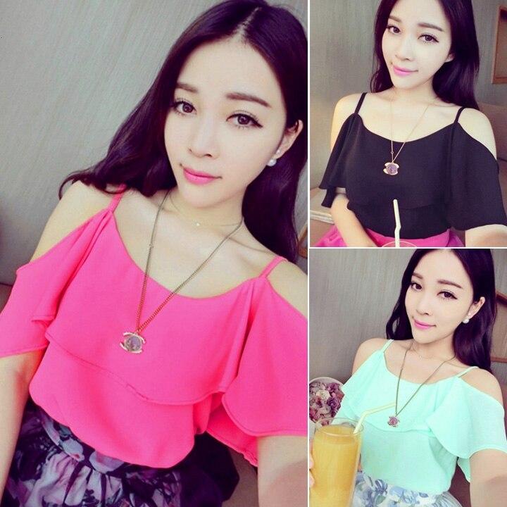 Сексуальная девушки женщин шифон футболки полые ремень женский топы женские летние кружева футболки рубашки для женщин harajuku