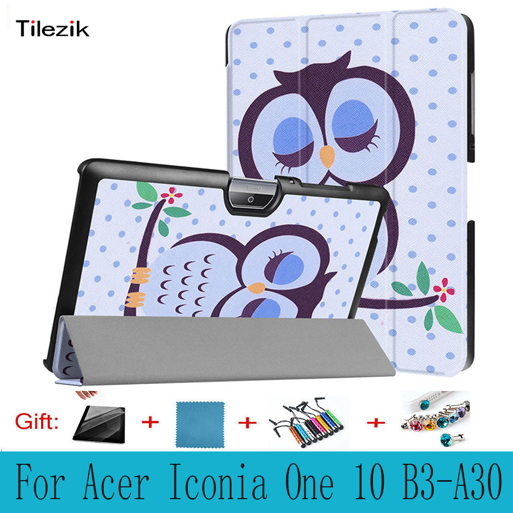 For Acer Iconia One 10 B3-A30 , Folio Stand Cover Magnetic Flip PU Leather Shockproof 10 Case For Acer Iconia One 10 B3-A30 top quality magnetic stand flip pu leather cover for acer iconia one 8 b1 850 b1 850 8 tablet funda case free screen film pen