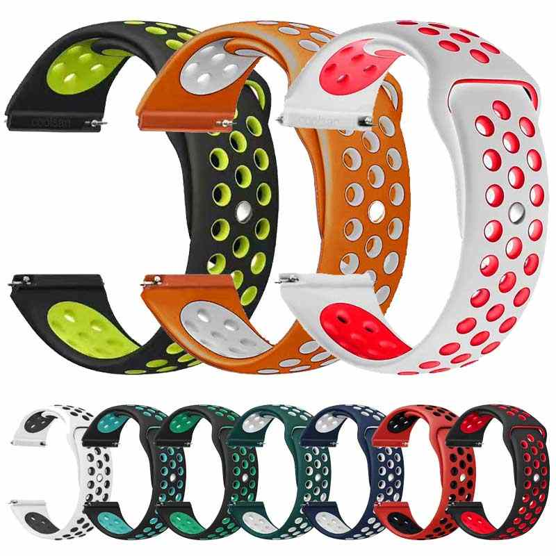 Brand silicone strap for xiaomi huami Amazfit bip Watch Band 20 22 mm for Samsung Gear sport S3 S2 Frontier Classic SM-R760/R770