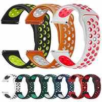 Marke silikon strap für xiaomi huami Amazfit bip Uhr Band 20 22 mm für Samsung Getriebe sport S3 S2 Frontier klassische SM-R760/R770