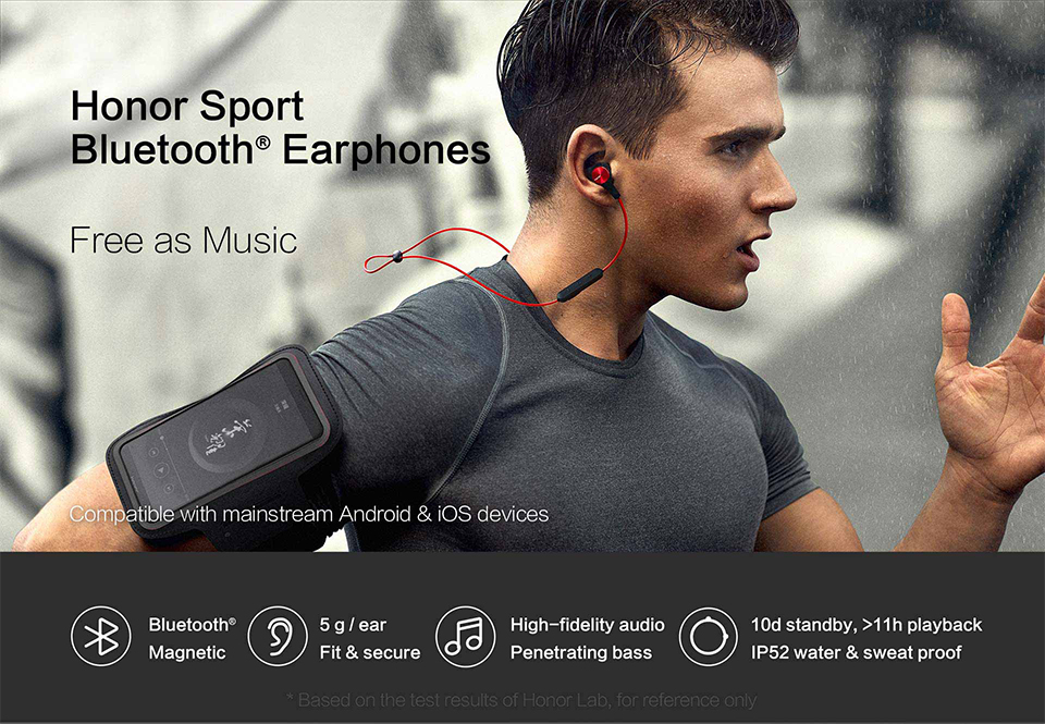 Huawei Honor xSport Bluetooth Headset AM61 IPX5 Waterproof BT4.1 Music Mic Control Wireless Earphones for Android IOS D5 (4)