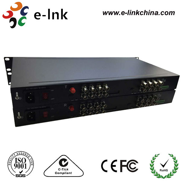 16Ch 720P HD-TVI to Fiber Extender for 1Mp TVI Camera16Ch 720P HD-TVI to Fiber Extender for 1Mp TVI Camera