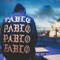 2016 Париж Толстовки Я чувствую себя, как пабло Пабло Кофты Канье Рэп черный Белый Толстовка Пуловеры Мужские Кофты Страх Божий Хип-Хоп