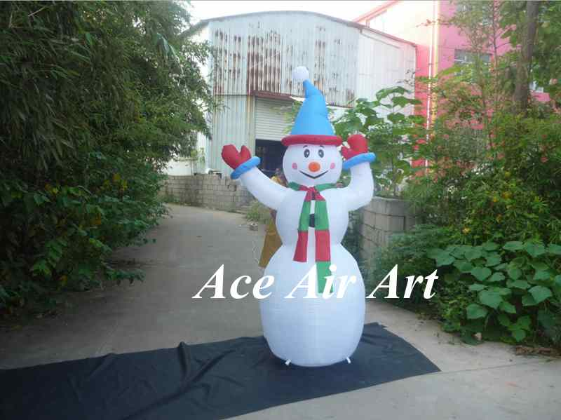 Large Outdoor Christmas Inflatable Snowman Decorations Family Led Lighted Yard Art Decoration Kc1268
