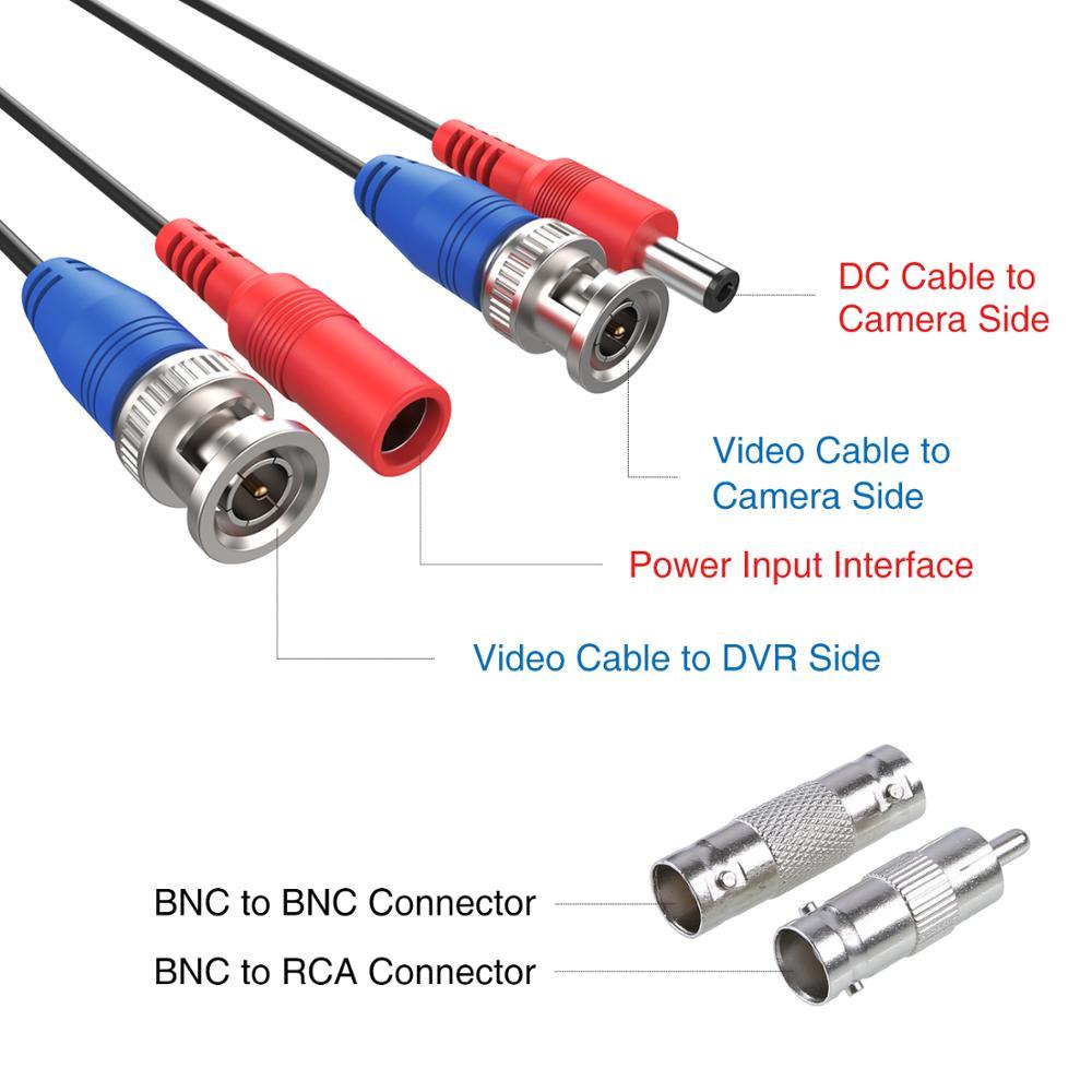 DC für DVR-Rekorder Kameras weiß 12 V 10m Verlängerungskabel Farbe