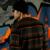 Frete grátis Nova moda casual masculino Militar do homem das camisolas dos homens casuais escovado solto listrado cor quente fanchen Escovado