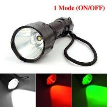 C8 linterna led cree T6 alta potencia 2000 lúmenes 1 modo de la antorcha lanterna luz para acampar sin batería 18650 LT29