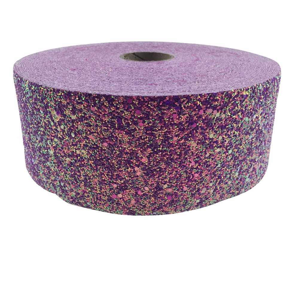 shipping free 3''75mm  50 yards  Chunky Glitter Ribbon Blingbling Soft Fabric Gift Package Handmade Material DIY Hairbow-in Webbing from Home & Garden    1