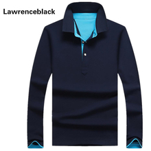 Polo männer baumwolle anti-falten 2016 neue marke mens designer polos hombre casual langarm solide polo shirts homme plus größe 33