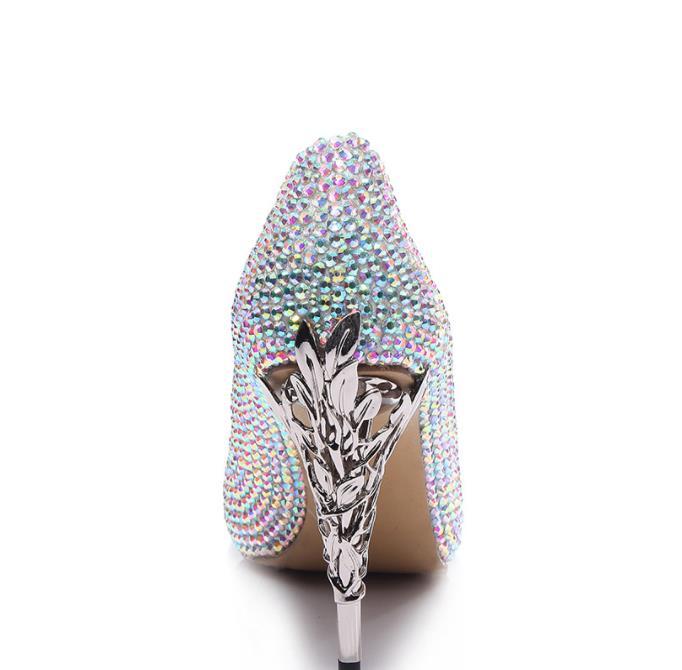 Talon Mode Mariage Hauts 2018 Commerce Fleur Femmes De Gamme Haut À Talons Multi Chaussures Fer Diamant Extérieur Pointu RvZRqAnt1