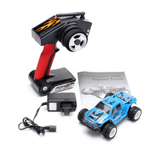WLtoys P929 1/28 2.4G RTR Electric 4WD Brushed Monster RC Car Cross-Country Car Shock Resistant With 7.4V 400mAh Battery
