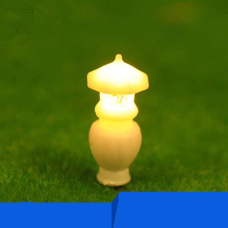 DIY modelo de mesa de areia material de arquitectura do jardim lâmpada de rua lâmpada de iluminação da lâmpada de luz luz da lâmpada de mesa 5
