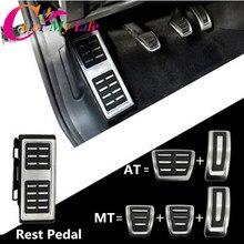 Car Pedals Cap Foot Rest Cover Accelerator Brake Clutch For VW Golf 7 GTi MK7 Seat Leon Octavia A7 Rapid Audi A3 8V Passat VIII