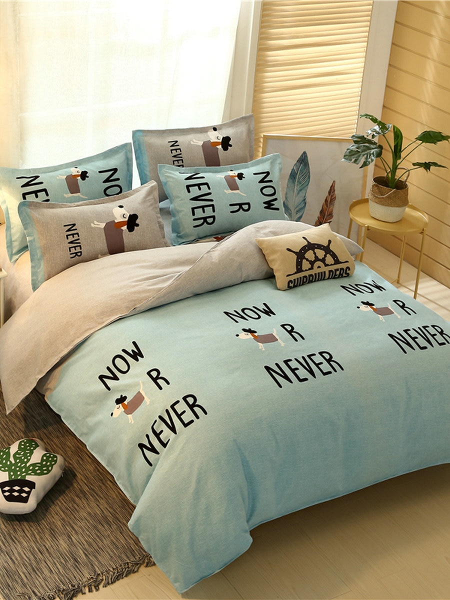 3Pcs/4Pcs Bedclothes Set Cartoon Simple Style Cute Dog Pattern Thickened Soft Comfy Home Bedding Set 3Pcs/4Pcs Bedclothes Set Cartoon Simple Style Cute Dog Pattern Thickened Soft Comfy Home Bedding Set