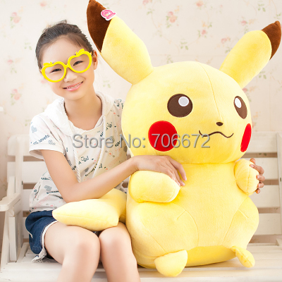 huge 80 cm Pokemon Pikachu Plush toy,Christmas gift p8904