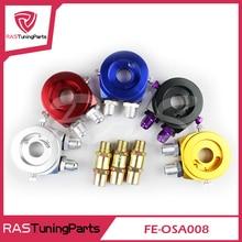цена на RASTP -AN10 Universal Aluminum Sandwich Oil Cooler Adapter Filter Cooler Plate RS3-OSA008