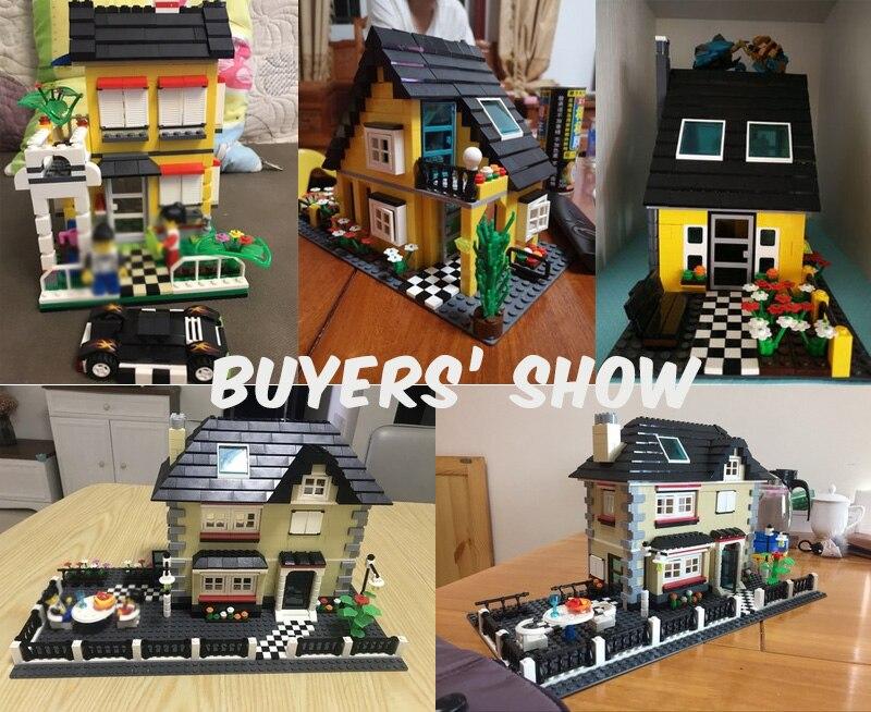 Garden Villa Wange Building Blocks Modern House Country Lodge Models Bricks 5311 Children Hobbie Toys Gift Compatible 4956 31050